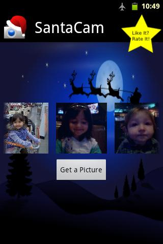 santa-cam-free for android screenshot