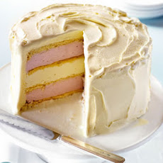 White Chocolate & Strawberry Ice-cream Cake