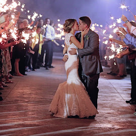 Setting off Fireworks by Mary Heimerman Myers - People Couples ( #bestkiss, #sparkle, #wedding )