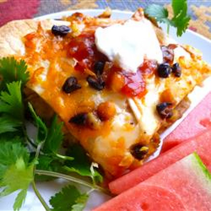 Bean and Honey Burrito Casserole