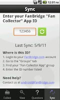 Screenshot of FanBridge Fan Collector