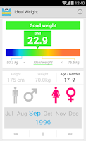 Screenshot of Ideal Weight (BMI)