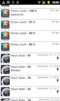 Screenshot of Stress Check by Azumio