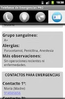 Screenshot of Telefonos de Emergencia PRO
