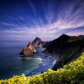 Hidden Cape by Nyoman Sundra - Landscapes Mountains & Hills ( japan, shizuoka, cape, izu, sunrise )