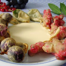 Fried Fruit With Bay Leaf Sauce
