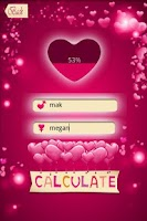 Screenshot of Love Percentage Calculator