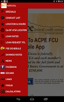 Screenshot of ACPE FCU