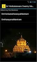 Screenshot of Sri Venkateswara Swamy Mantram