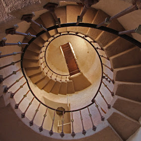 Scotty's Castle staircase by Suzanne Black - Buildings & Architecture Architectural Detail (  )