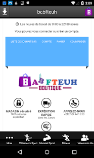 Boutique babfteuh - screenshot