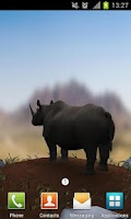 Screenshot of Save The Rhinos Live Wallpaper