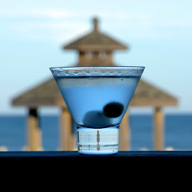 Martini at the beach by Hunter Ten Broeck - Food & Drink Alcohol & Drinks ( balance, outer banks, martini, beach, north carolina )