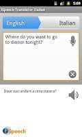 Screenshot of iSpeech Italian Translator