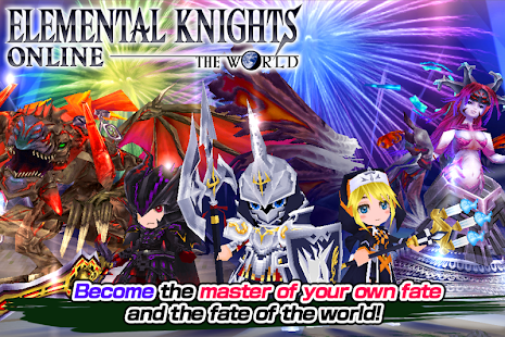 Game RPG Elemental Knights R (MMO) APK for Kindle