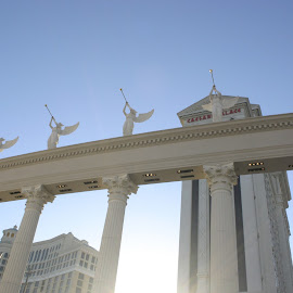 The guardian angels of Caesars palace. by Stephen Jones - Buildings & Architecture Statues & Monuments