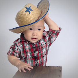 Howdy Pardner by Steve Liu - Babies & Children Child Portraits (  )