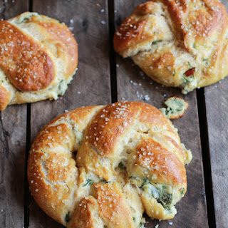 Spinach and Artichoke Stuffed Beer Soft Pretzels