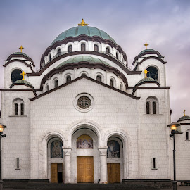 The temple by Milos Vasic - Buildings & Architecture Places of Worship ( religion, temple, massive, church, rainy, white )