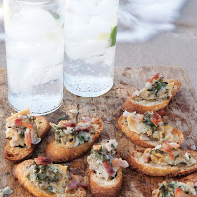 Clams Casino Crostini