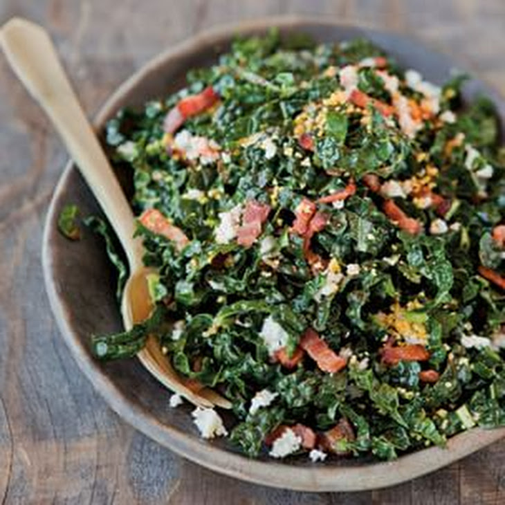 Shredded Kale Salad with Pancetta and Hard-Cooked Egg Recipe | Yummly