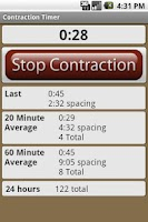 Screenshot of Contraction Timer Lite