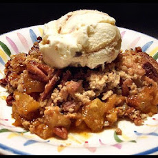 Butterscotch Apple Pecan Cobbler