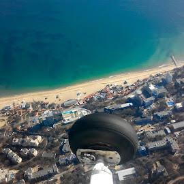 by Milos Ilic - City,  Street & Park  Vistas ( flying, bird view, sea, footprint, beach, cessna )
