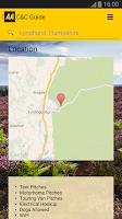 Screenshot of AA Caravan & Camping Guide