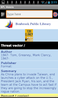 Screenshot of Benbrook Public Library Mobile