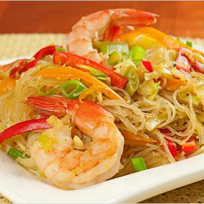 Singapore-Style Noodles with Shrimp