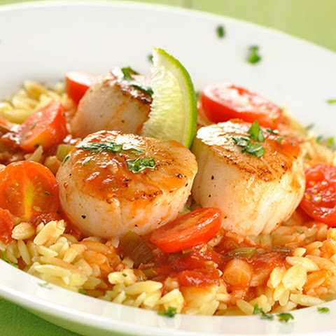 Scallops in Tomato-Lime Butter Sauce