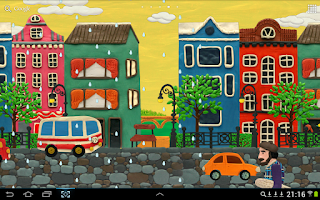 Screenshot of Plasticine town Live wallpaper