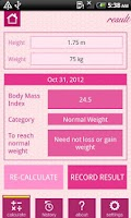 Screenshot of Women's Health Diary