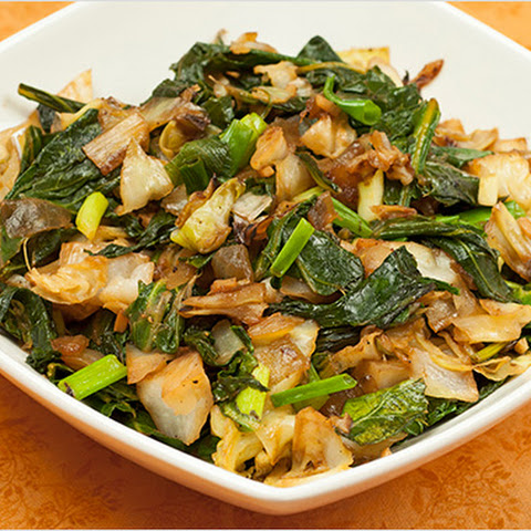 Sauteed Cabbage and Kale
