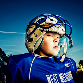 Football player by Ina Pandora - Babies & Children Child Portraits ( child, player, football, stadium, portrait, kid )