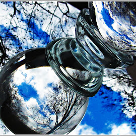 Reflection / Refraction by Kathy Hancock - Artistic Objects Glass ( macro, nature, crystal ball, glass, reflections, refractions )