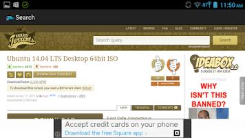 Screenshot of KickAss torrent search