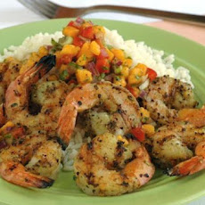Ww 3 Points - Spicy Shrimp With Papaya Salsa
