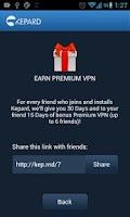 Screenshot of Kepard VPN