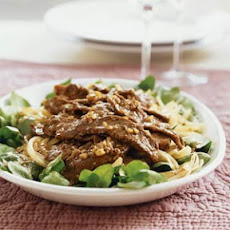 Hot Beef and Wilted Watercress Salad