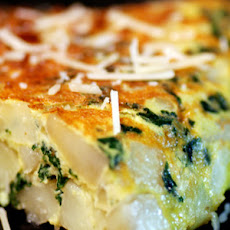 Potato and Kale Spanish Tortilla