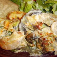 Sarasota's Chicken, Artichoke and Shrimp Casserole