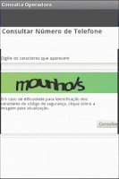 Screenshot of Consulta Operadora Celular