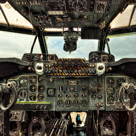 Shackleton Cockpit... by Graham Markham - Transportation Airplanes ( bracketed, aviation museum, gatwick, hdr, planes )