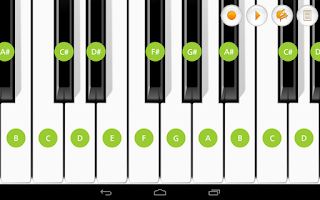 Screenshot of Mini Piano Pro