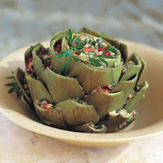 Artichokes with Bread and Tomato Stuffing