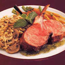 Rack of Lamb with Chutney-Mint Glaze