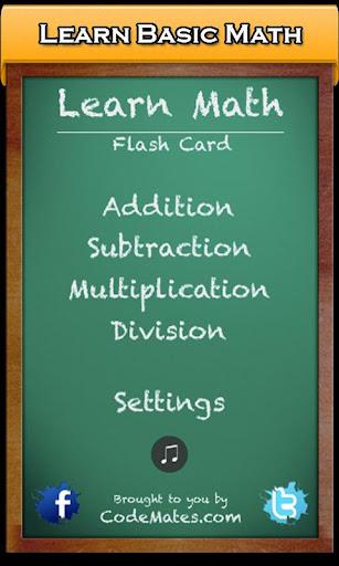Learn Math Flash Cards