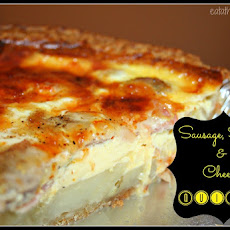 Sausage, Ham & Cheese Quiche